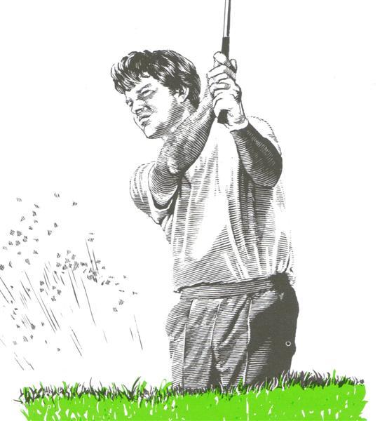 Le bras gauche dans les sorties de bunker au golf