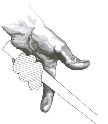 La position de la main gauche sur le grip au golf