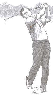 Le finish du swing au golf