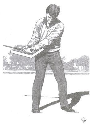 Début de la montée du swing au golf