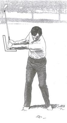 Pendant la montée du swing au golf