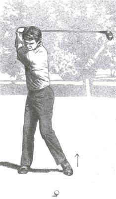 La fin de la montée du swing au golf